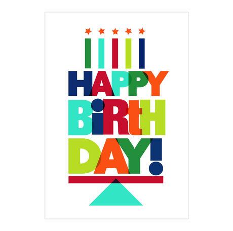 Happy Birthday Letter Cake Business Hallmark Card
