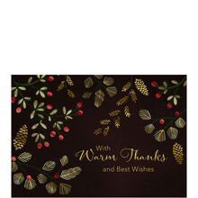 Premium Holiday Card (Jeweled Evergreens) for Business