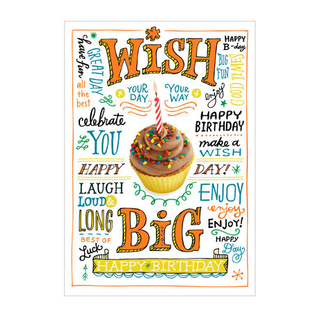 Birthday Wishes And Cupcake Cards