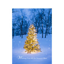 Christmas Glow in the Snow Business Hallmark Card