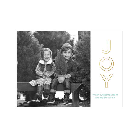 Joy with Shining Outline Hallmark Holiday Photo Card