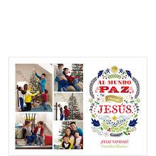 Born to Peace Spanish Hallmark Christmas Photo Collage Card