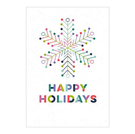 Colorful Holiday Snowflake Business Hallmark Card