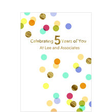 5th Work Anniversary Confetti Design Your Own Hallmark Card