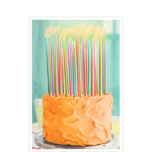 Birthday Cake and Candles Business Hallmark Card