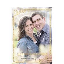Elegantly Framed Merry Christmas Full Photo Hallmark Card