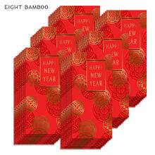 Happy New Year Lai See Red Envelopes, 48 Pack