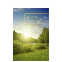 Hope and Peace Sunrise Business Greeting Card