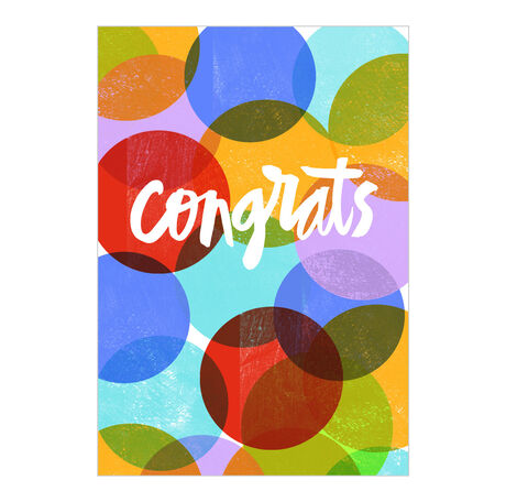 Congrats Colorful Dots