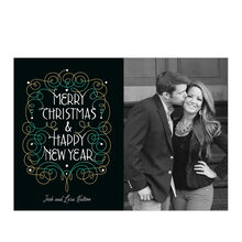 Merry Christmas, New Year Filigree Hallmark Photo Card