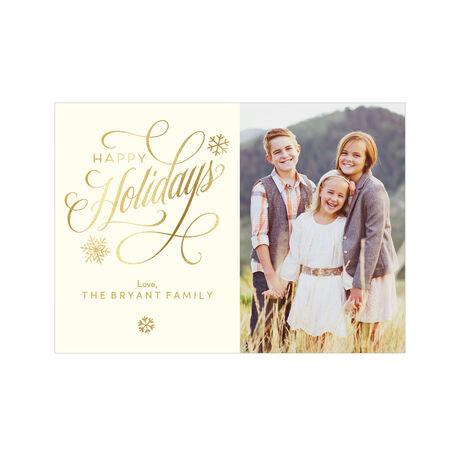 Elegant and Shining Happy Holidays Hallmark Photo Card
