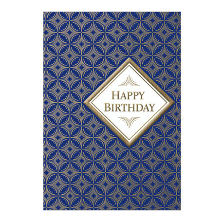 Gold Diamonds Birthday Business Hallmark Card