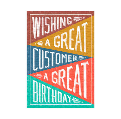 Great Customer, Great Birthday Business Hallmark Card