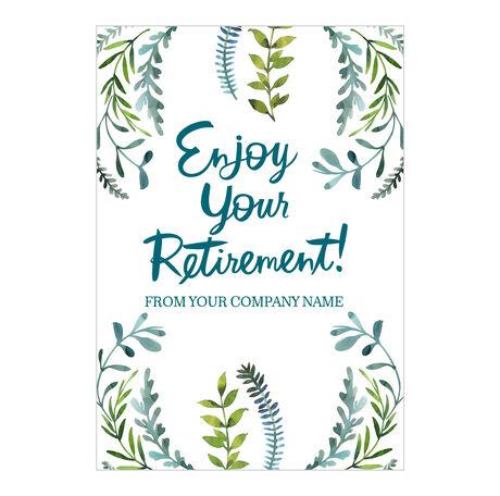 Enjoy Retirement Custom Cover Business Hallmark Card