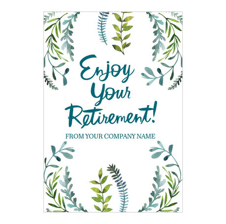 Enjoy Retirement Personalized Cover Business Hallmark Card