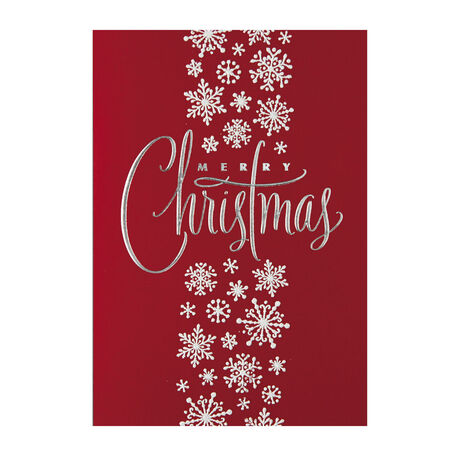 Sparkling Snowflakes Merry Christmas Holiday Cards - Hallmark ...
