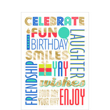 Celebrate Fun Birthday Business Hallmark Card