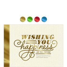 Wishing You Happiness Design Your Own Business Retirement Card