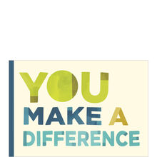 Green, Blue & White Make a Difference Employee Appreciation Card