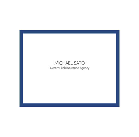 Bordered Design Your Own Business Hallmark Note Card