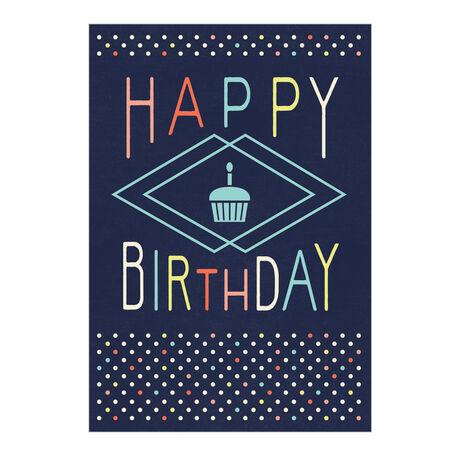 Happy Birthday Cupcake Business Hallmark Card