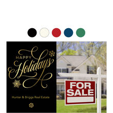Happy Holidays Flourish Business Hallmark Photo Card