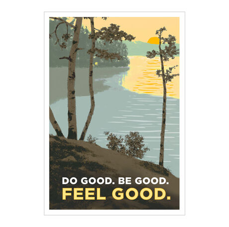 Feel Good Retro Print Health Business Hallmark Card