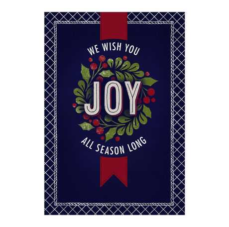 Joy All Season Holiday Business Hallmark Card