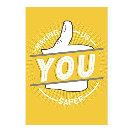 Safety Thumbs Up Employee Appreciation Hallmark Card