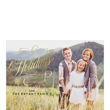 Elegant and Shining Happy Holidays Full Photo Hallmark Card