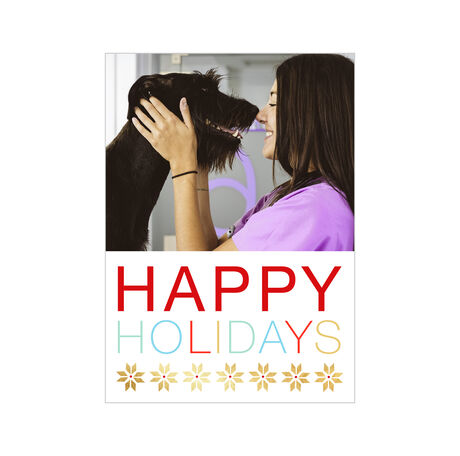Colorful Happy Holidays Design Your Own Business Hallmark Photo Card