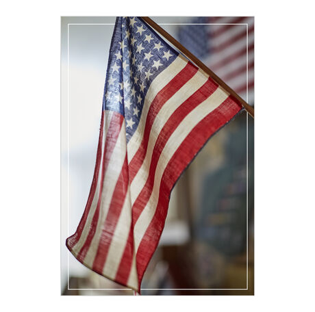 American Flag Patriotic Business Hallmark Card