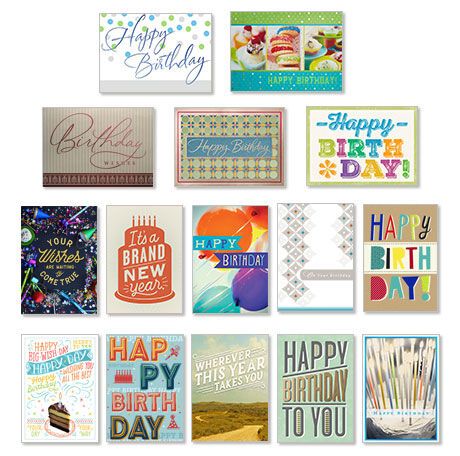 Value Assorted Birthday Cards For Business 150 Pack