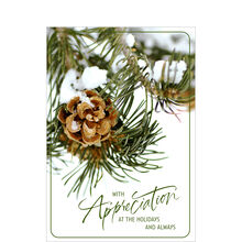 Pinecone Holiday Appreciation Business Hallmark Card