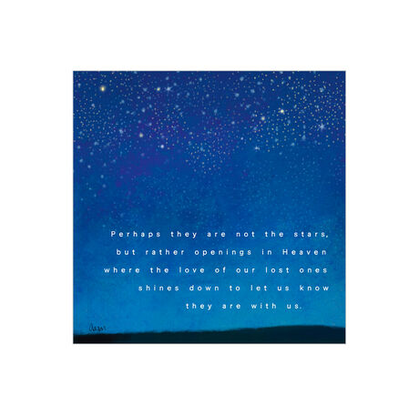 Love Shines Down Sympathy Business Hallmark Card