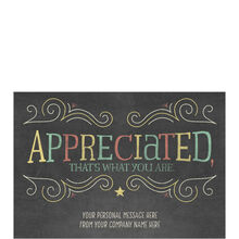 Chalked Thanks Custom Cover Business Hallmark Card Cust Appreciation