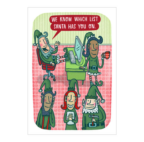 Santa's Elves Funny Holiday Business Hallmark Card