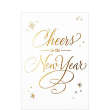 cheers to the new year business hallmark card