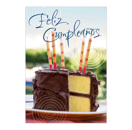Birthday Cake Spanish Business Hallmark Card