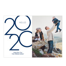 Hello 2020 Hallmark Happy New Year Photo Card