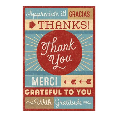 Many Ways to Say Thanks Business Hallmark Card