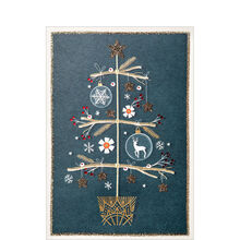 Simple Christmas Tree Business Hallmark Card