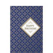 Gold Diamonds Birthday Business Hallmark Card