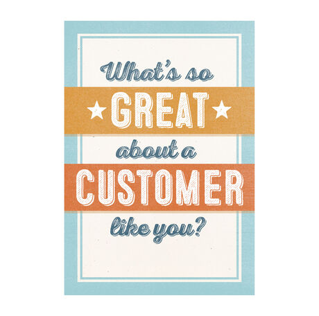 Great customer appreciation cards hallmark business connections great customer reheart Choice Image