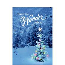 Wonder Christmas Tree Holiday Business Hallmark Card