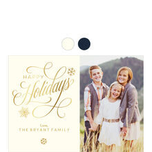 Elegant and Shining Happy Holidays Hallmark Photo Card