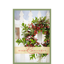rustic christmas wreath - Business Christmas Cards
