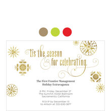 Snowflakes for Celebrating Design Your Own Business Hallmark Invitation