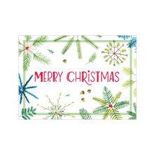 Pine Snowflakes Christmas Business Hallmark Card