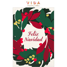 Christmas Wreath Spanish Business Hallmark Card
